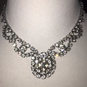 Rhinestone statement necklace. Bling!